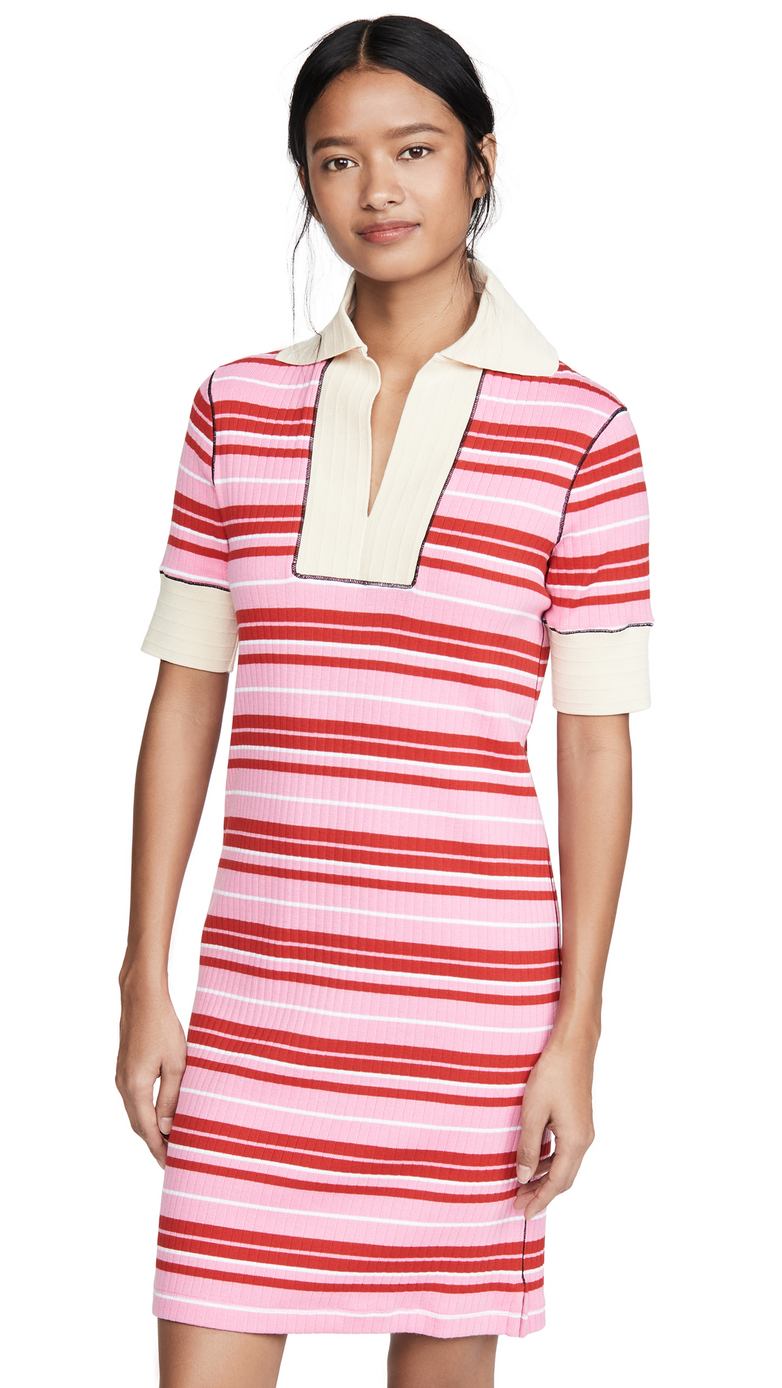 Buy Marni online - photo of Marni Striped Dress with Collar