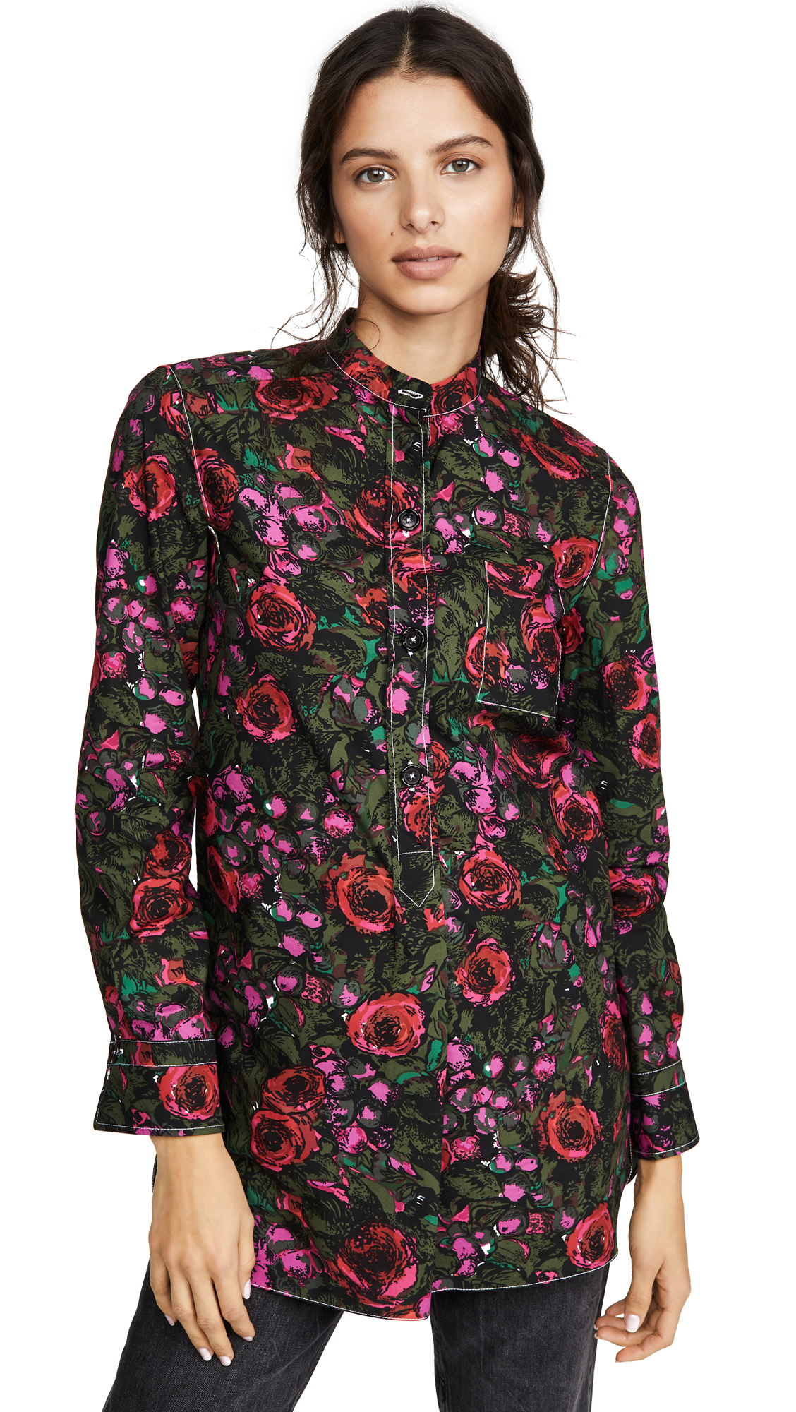 Buy Marni online - photo of Marni Floral Button Down Blouse