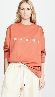 Marni 徽标长袖 T 恤
