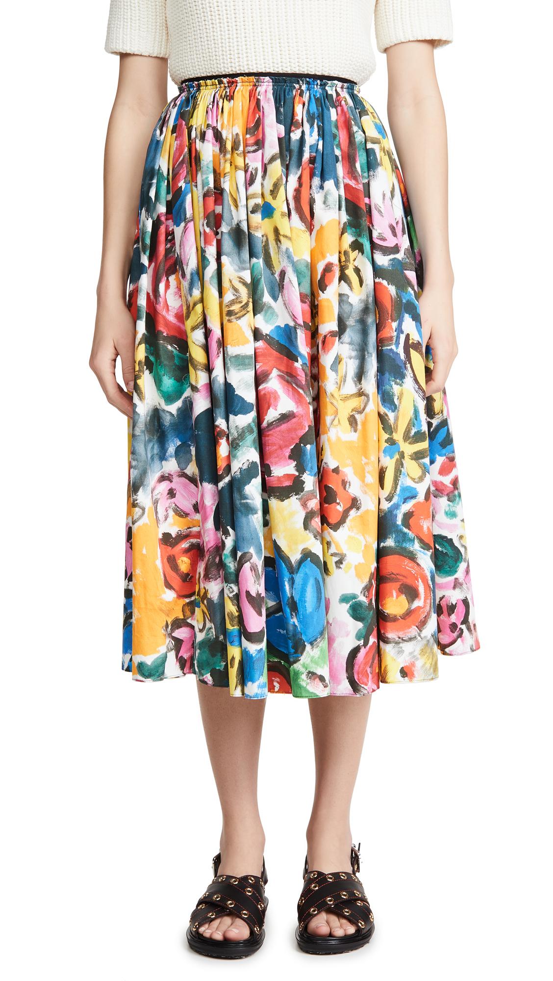 Buy Marni online - photo of Marni Printed Flare Midi Skirt