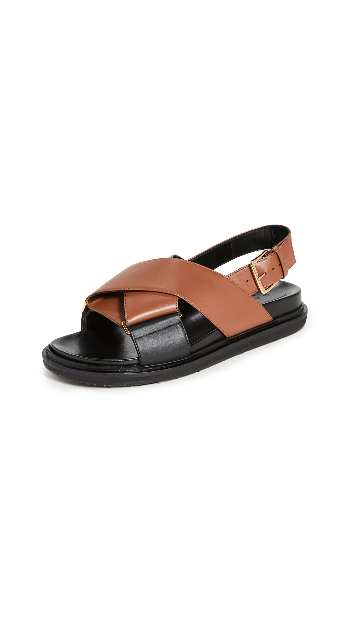 Buy Marni Crisscross Fussbett Sandals online, shop Marni