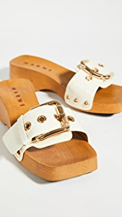 Marni Buckle Clogs