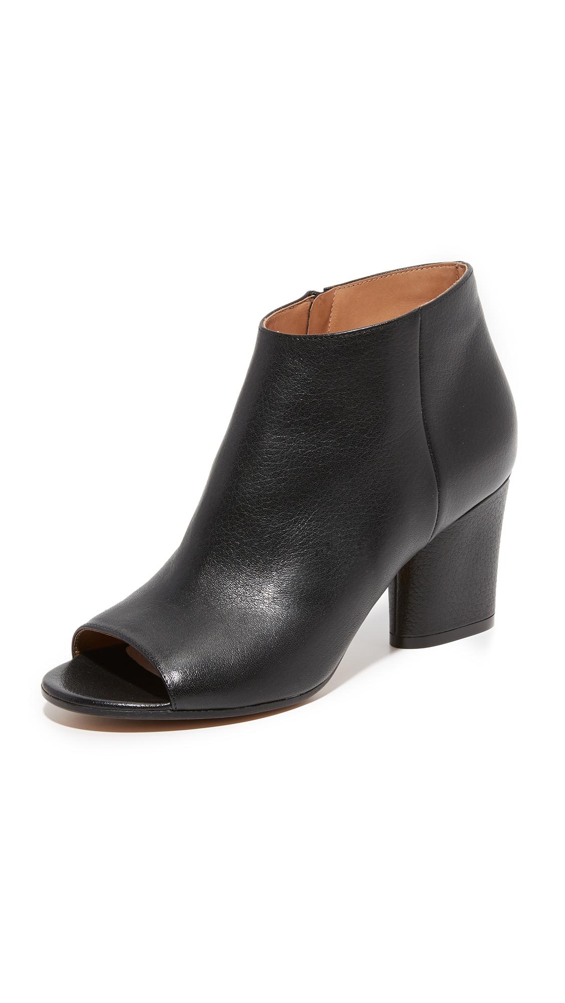 Maison Margiela Leather Booties - Black