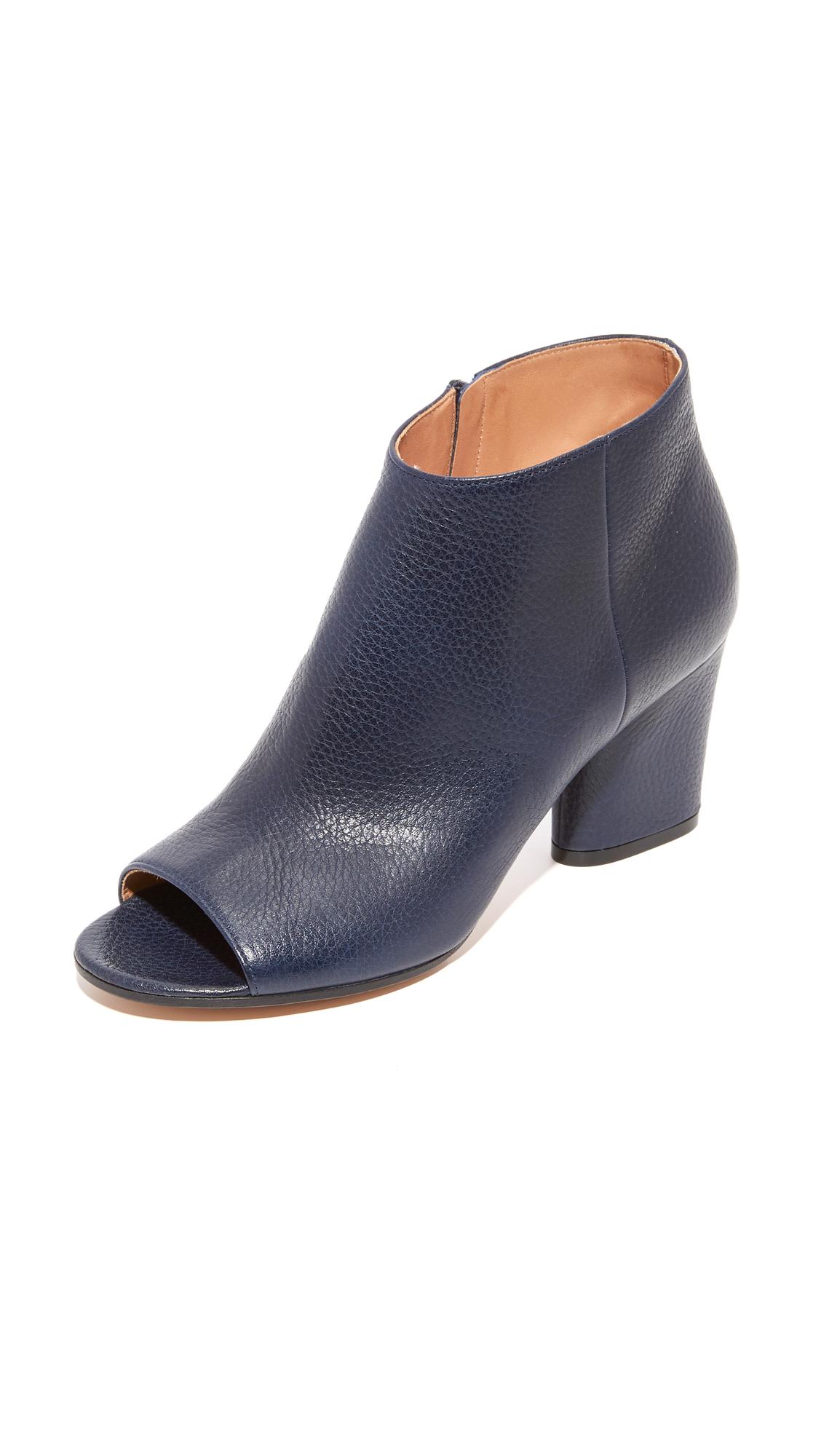 Maison Margiela Leather Booties - Navy