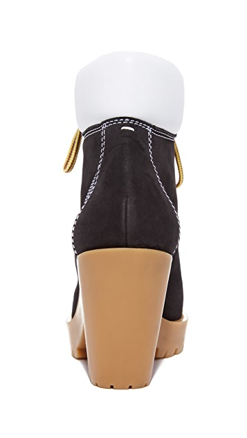Maison Margiela Suede and Leather Booties