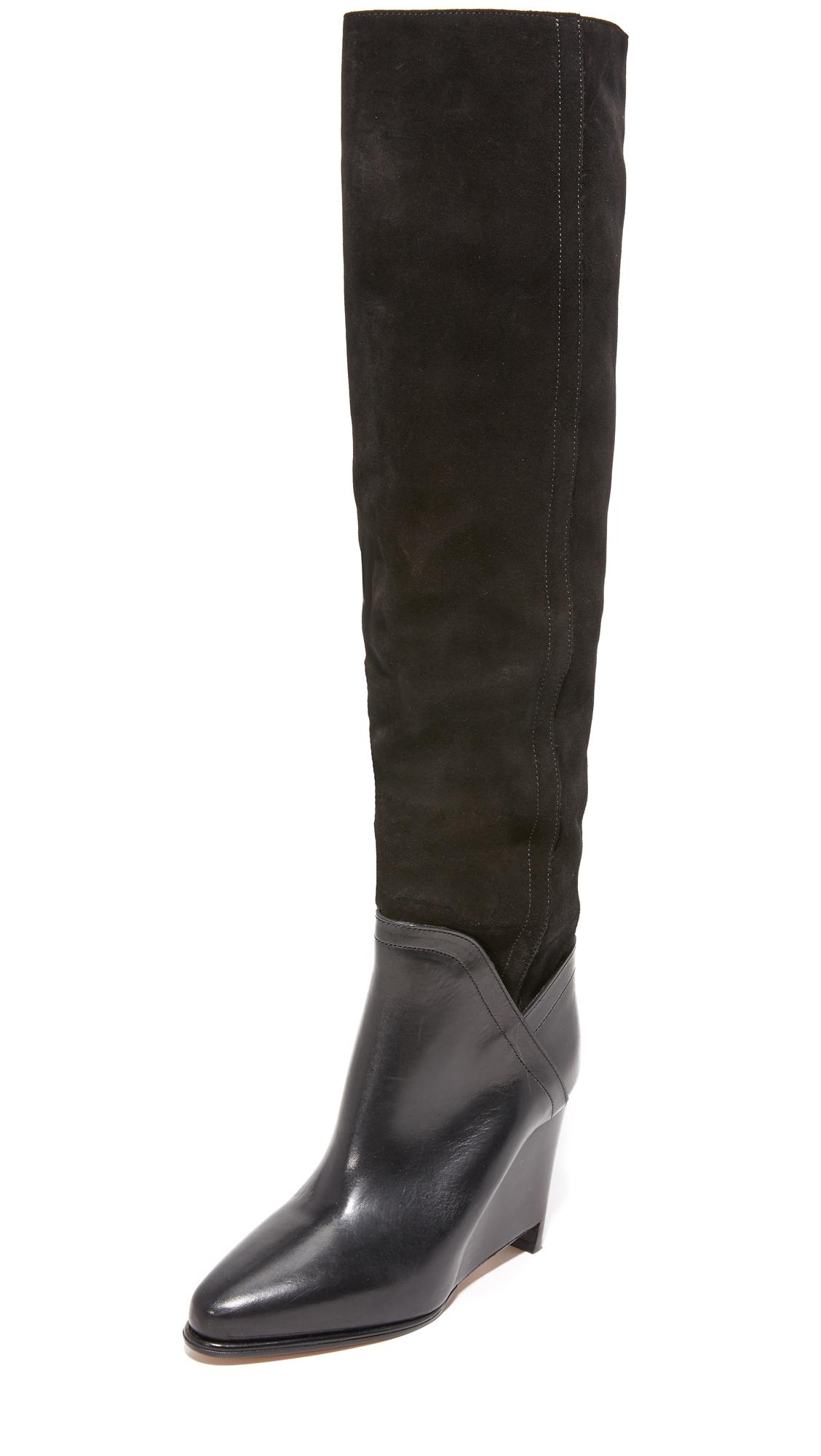 Maison Margiela Leather & Suede Boots - Black