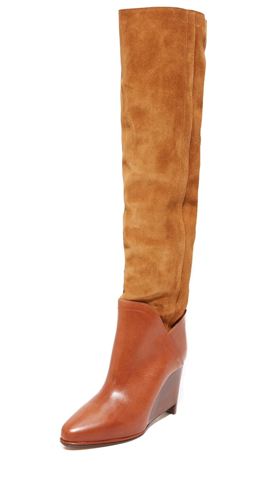 Maison Margiela Leather & Suede Boots - Papaya