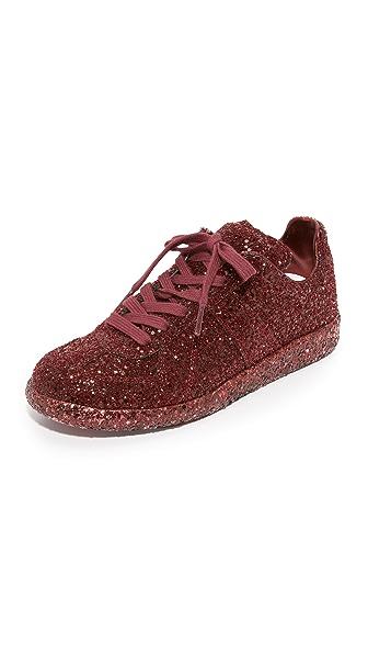 Maison Margiela Glitter Sneakers - Red