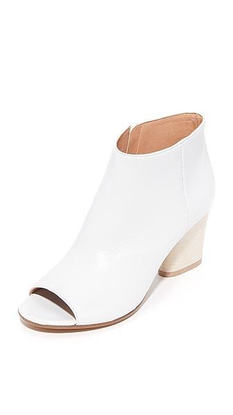Maison Margiela Peep Toe Ankle Boots - White