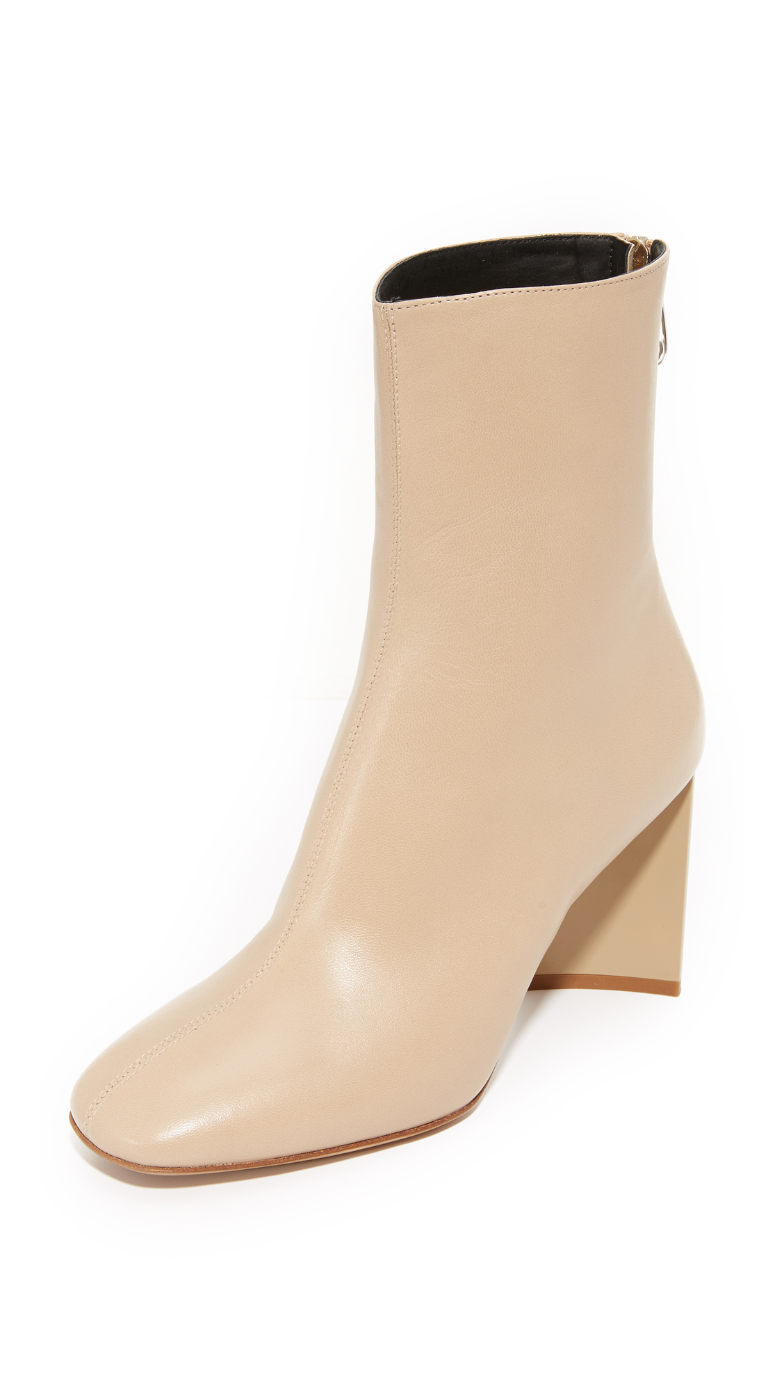 Maison Margiela Cutout Heel Ankle Booties - Nude