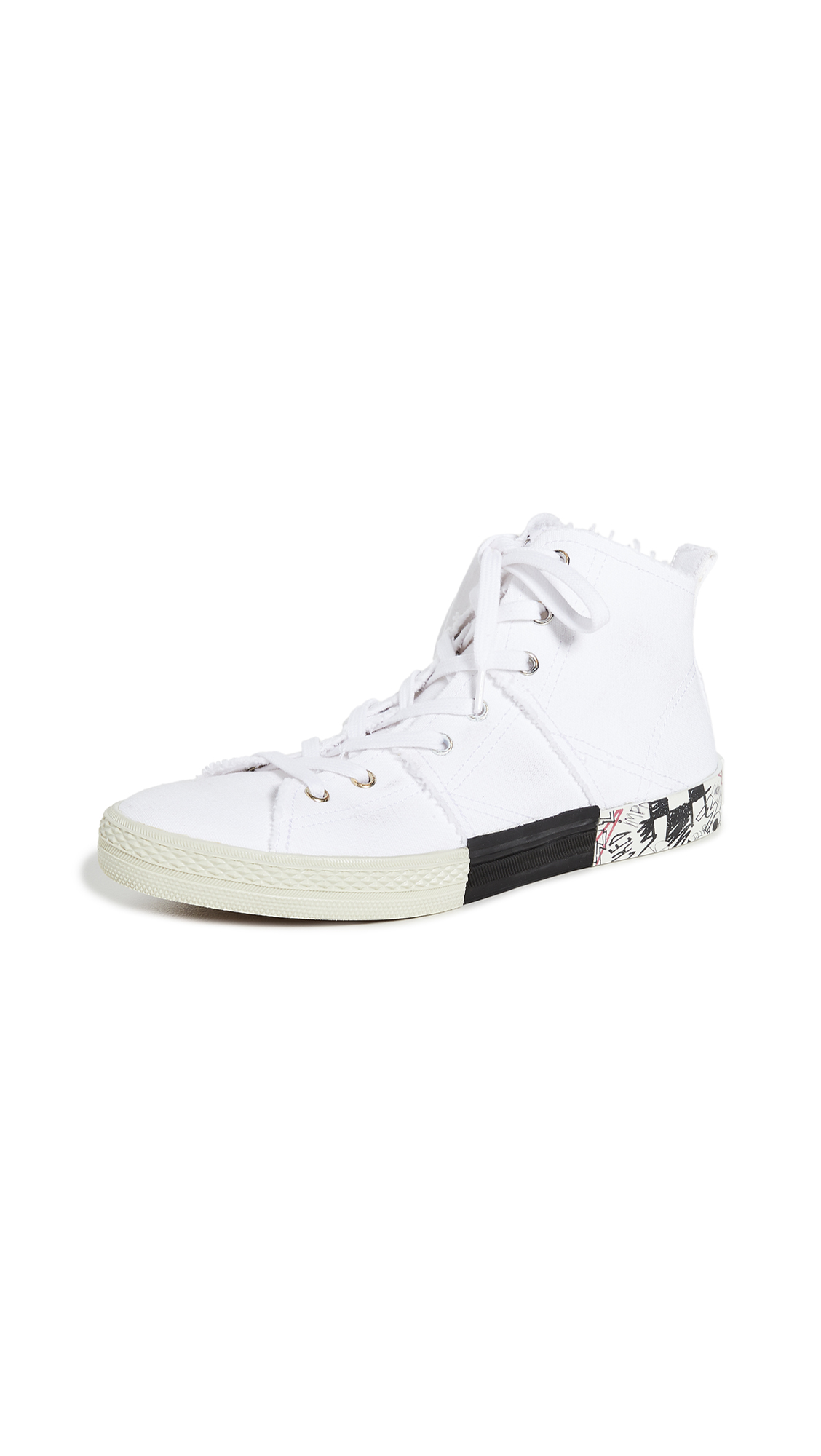 Maison Margiela Layered High Top Sneakers - 60% Off Sale