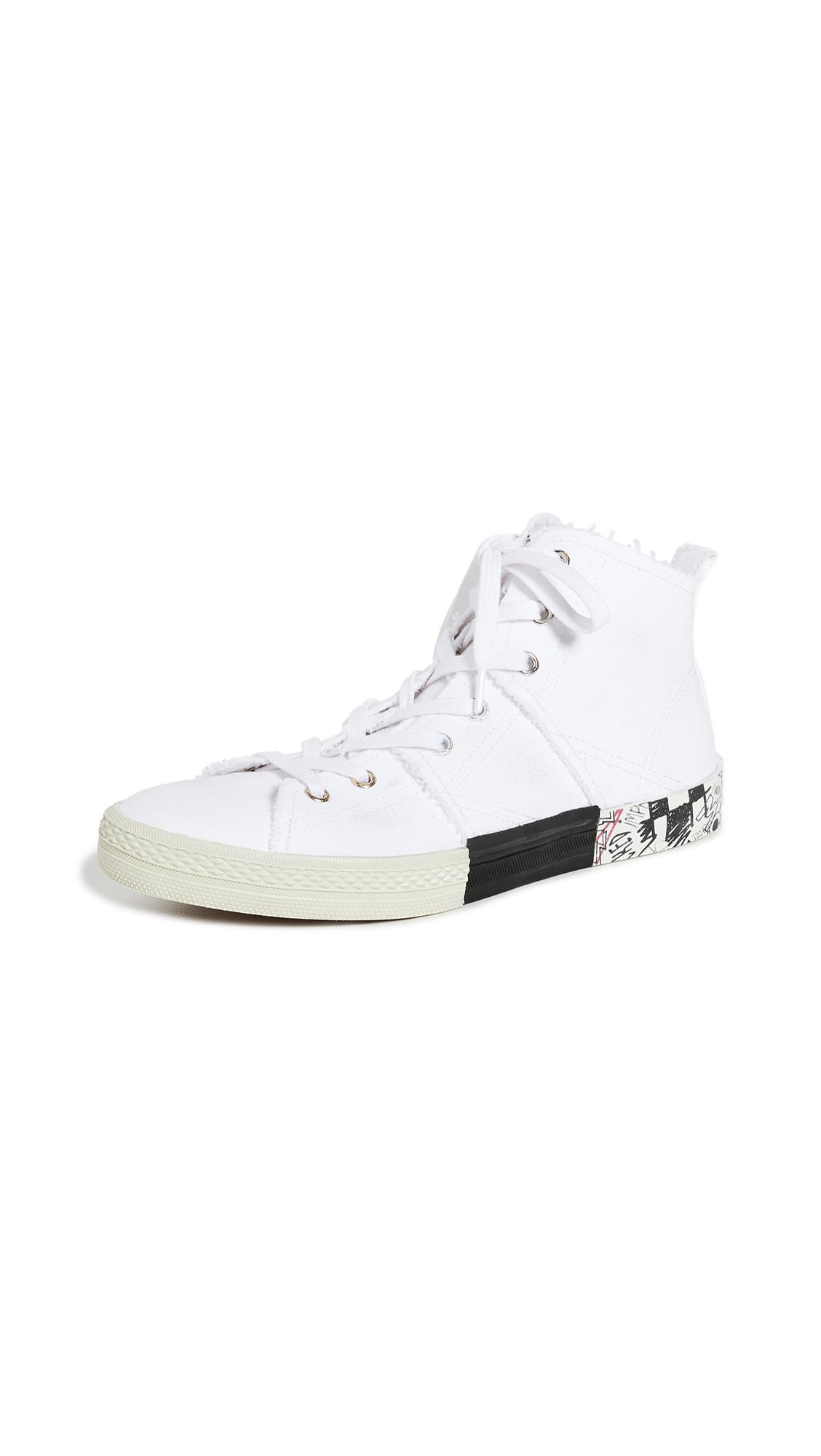 Buy Maison Margiela online - photo of Maison Margiela Layered High Top Sneakers