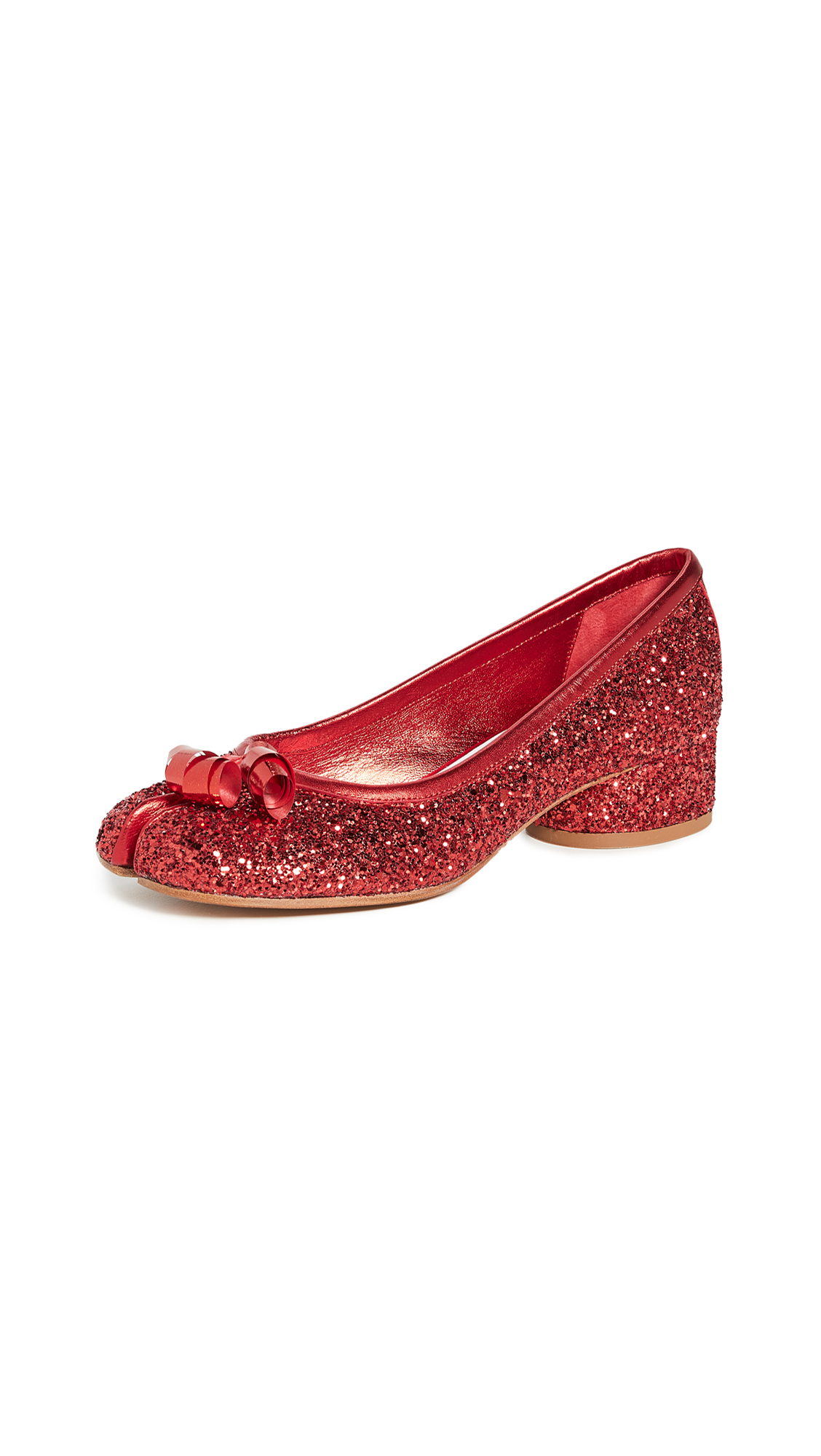 Maison Margiela Tabi Glitter Pumps - 60% Off Sale