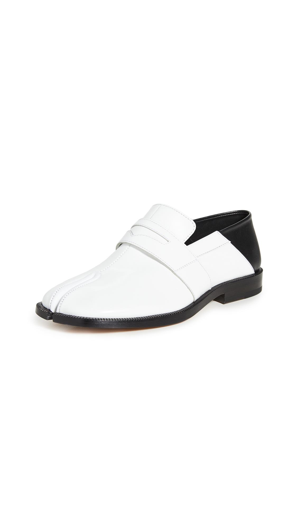 Buy Maison Margiela Tabi Penny Loafers online, shop Maison Margiela