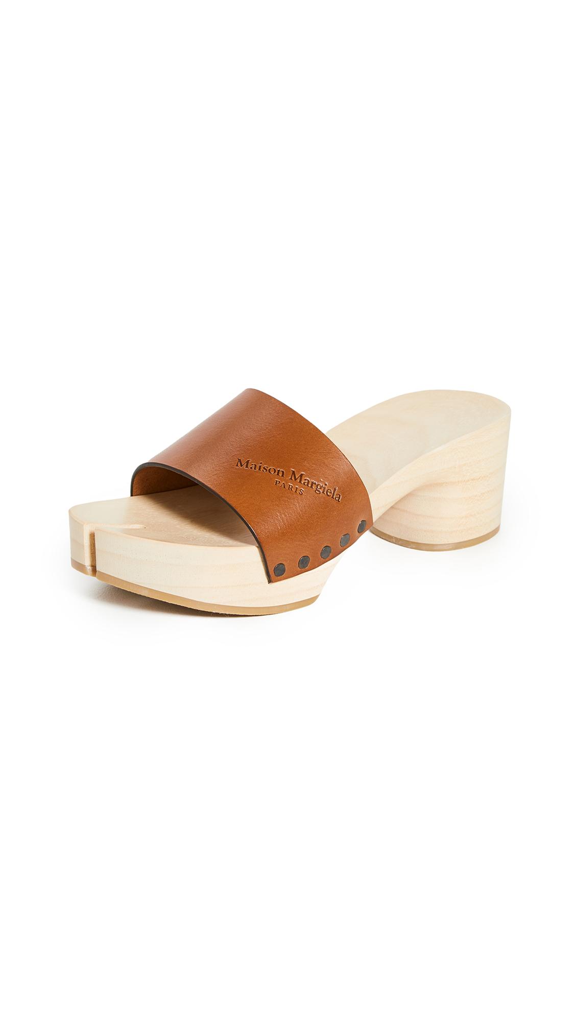 Maison Margiela Wooden Clog Sandals - 60% Off Sale