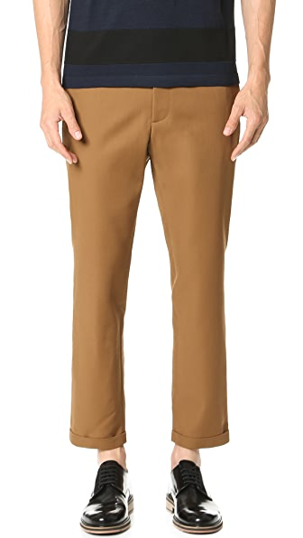 Marni Slim Cropped Gabardine Trousers