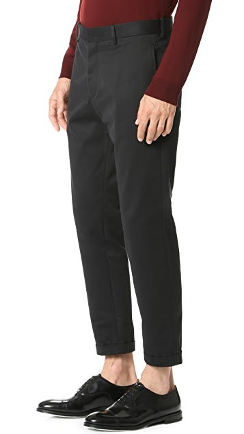 Marni Slim Cropped Sanded Twill Trousers