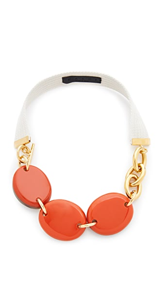 Marni Necklace with Horn In Orange/Red