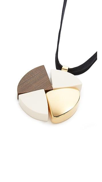 Marni Wood Pendant Necklace