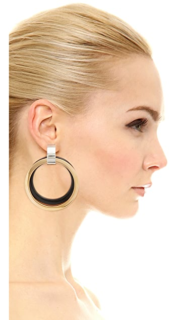 Marni Metal Clip On Earrings