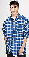 Marni Brushed Cotton Check Long Sleeve Shirt