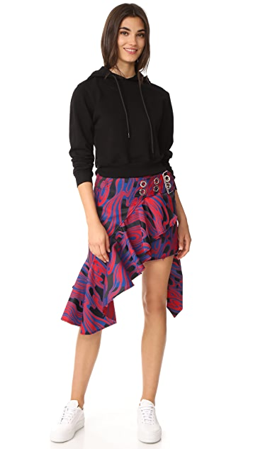 Marques Almeida Frill & Buckle Belt Wrap Skirt