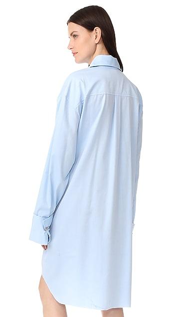Marques Almeida Safety Pin Detail Shirtdress
