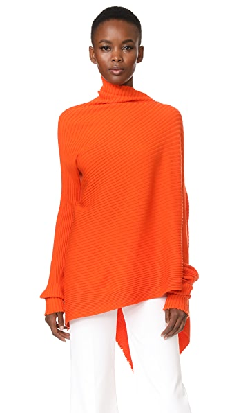 Marques Almeida Draped Asymmetrical Sweater - Orange