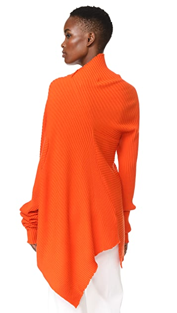 Marques Almeida Draped Asymmetrical Sweater