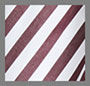 Burgundy/White Stripe