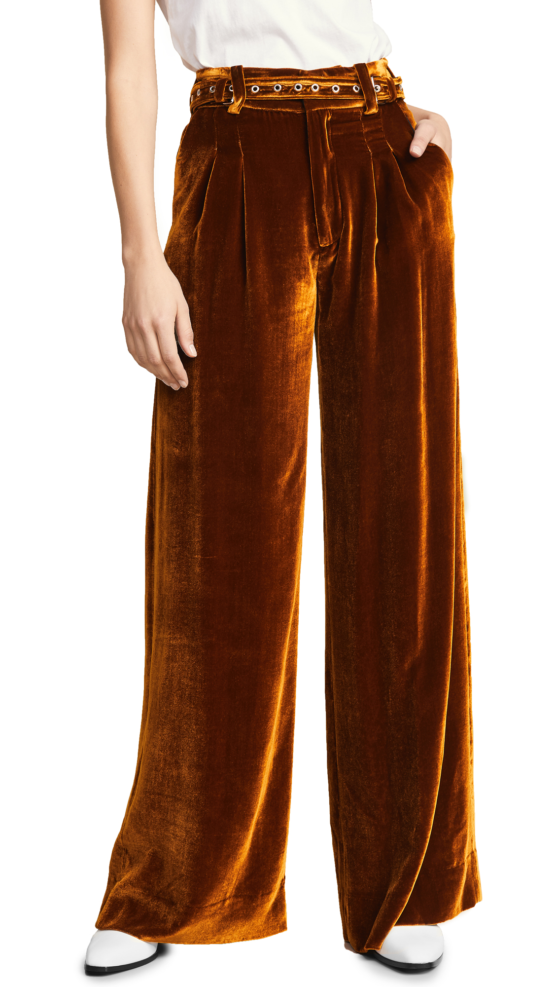 Marques Almeida Wide Leg Trousers In Brown