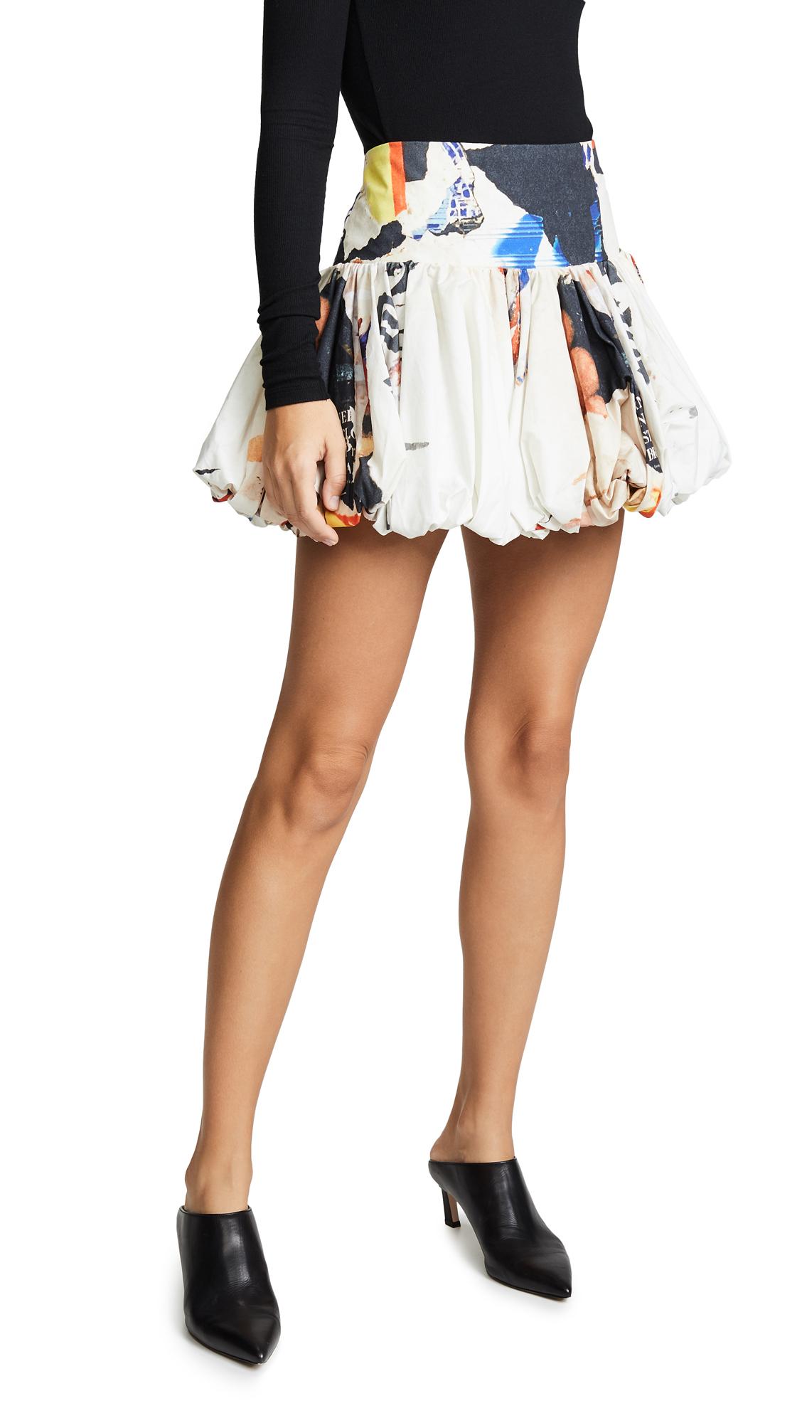 Marques Almeida Puff Miniskirt In Poster Print