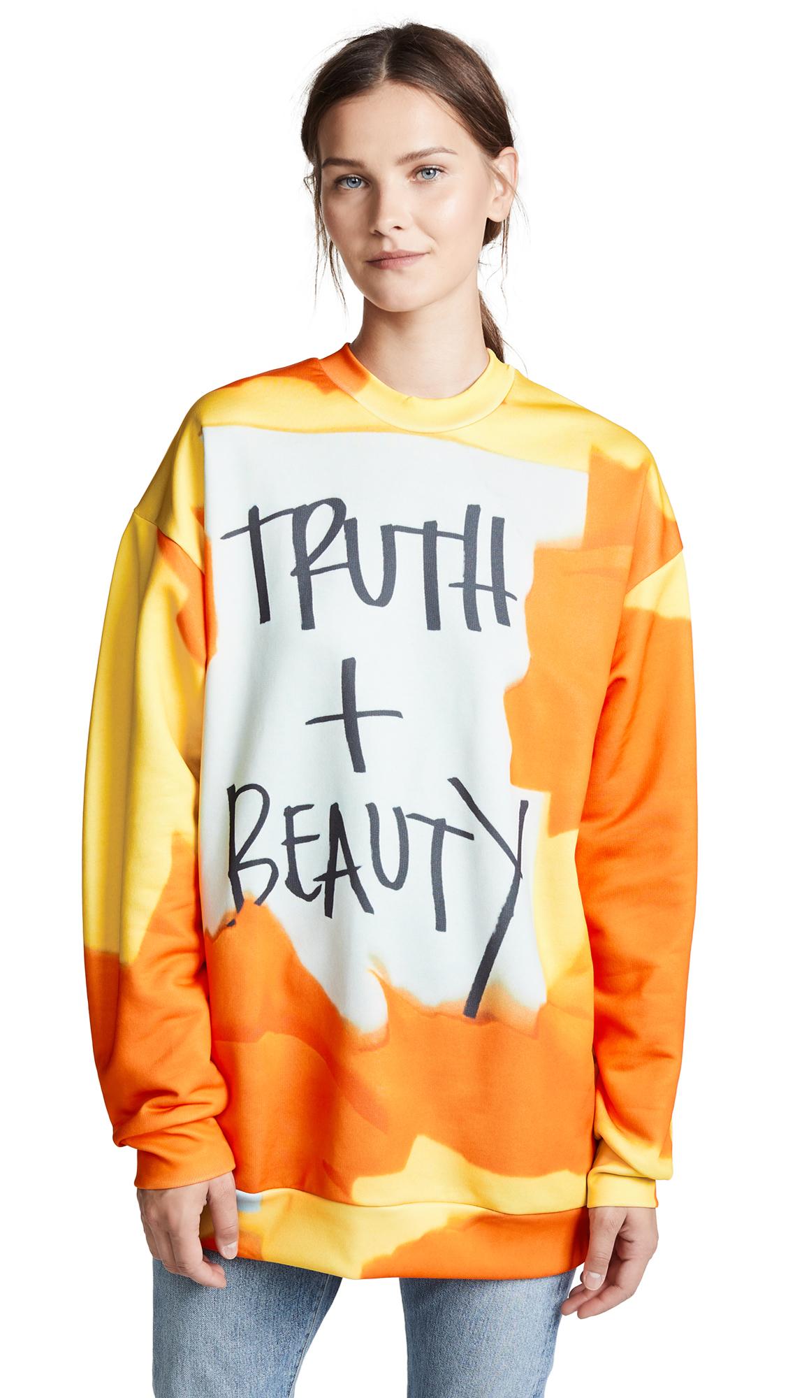 Marques Almeida Oversized Sweatshirt In Truth & Beauty