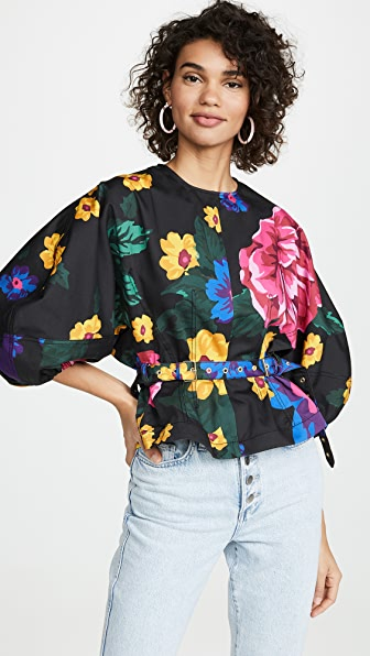 Marques' Almeida Tops CURVED SLEEVE TOP