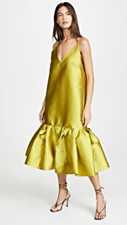 Marques Almeida Платье-комбинация с объемным подолом