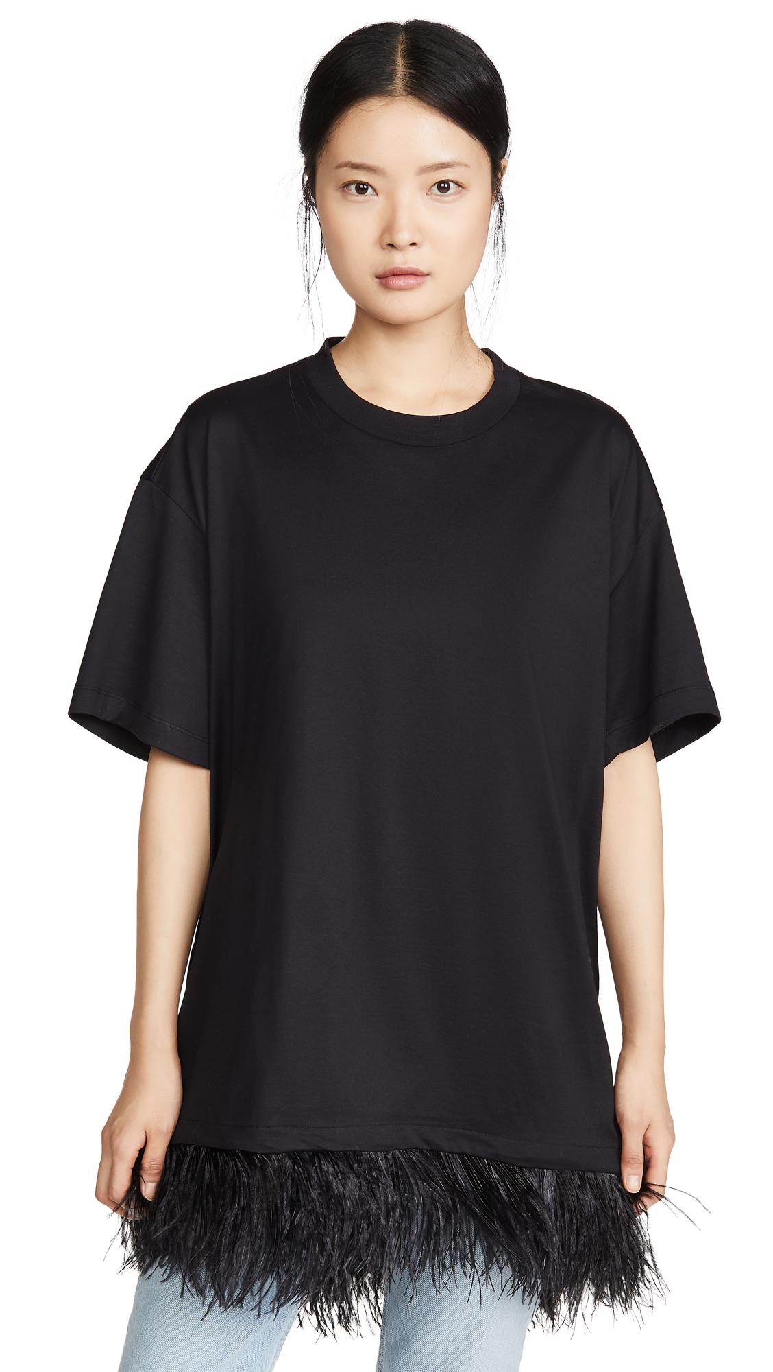 Buy Marques Almeida online - photo of Marques Almeida Feather Hem T-Shirt