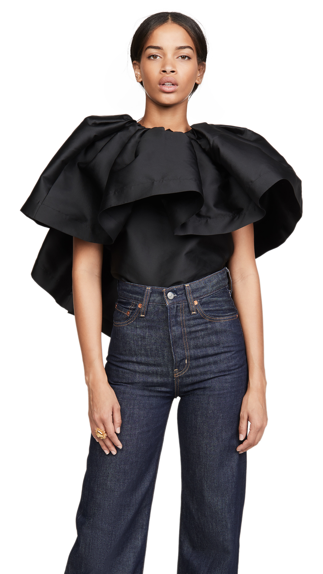 Marques Almeida Pleated Cape Top - 30% Off Sale