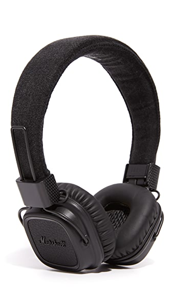 Marshall Major II Pitch Black Over the Ear Headphones