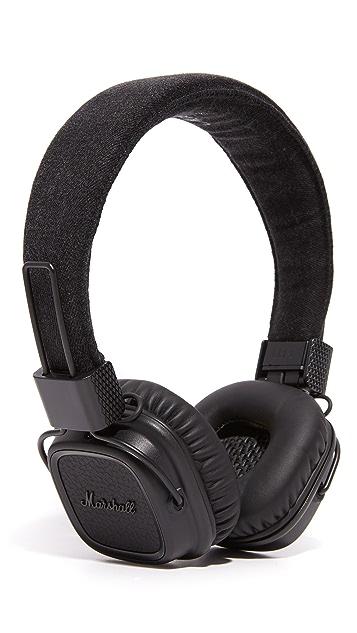 Marshall Major II Pitch Black Over the Ear Headphones
