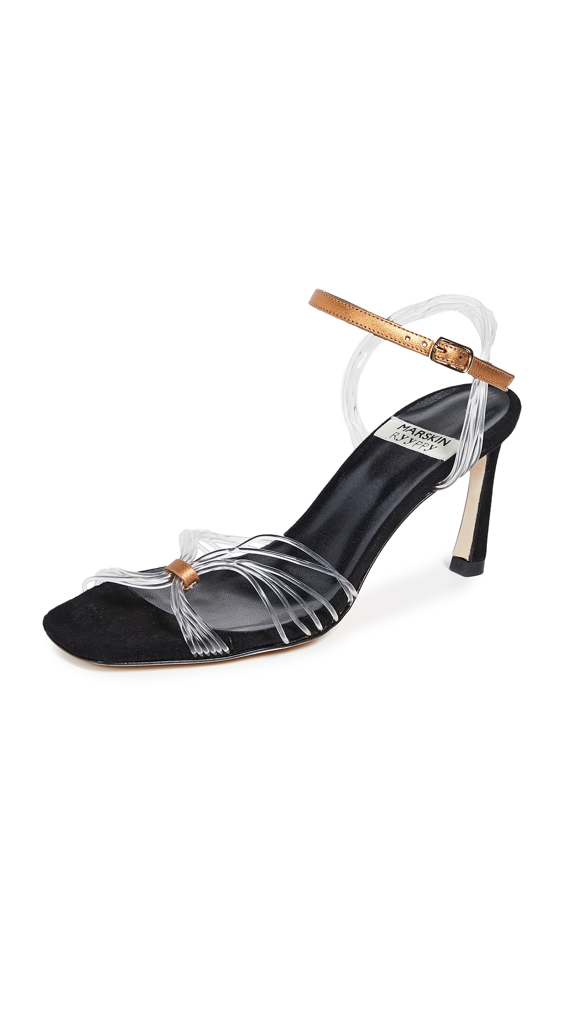 MARSKINRYYPPY Reba Sandals - Black/Gold/Transparent
