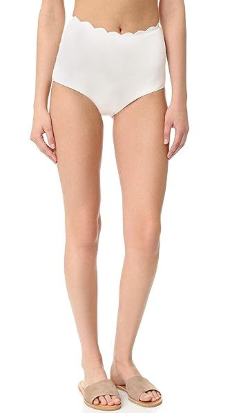 Marysia Swim Palm Springs High Waist Bikini Bottoms - Coconut at Shopbop