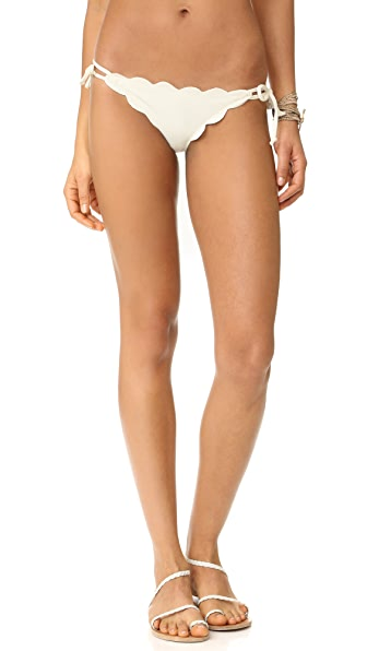 Marysia Swim Mott Scallop Bikini Bottoms In Coconut