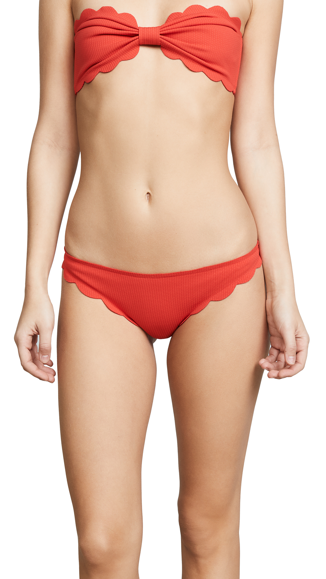 Marysia Swim Broadway Scallop Bikini Bottoms