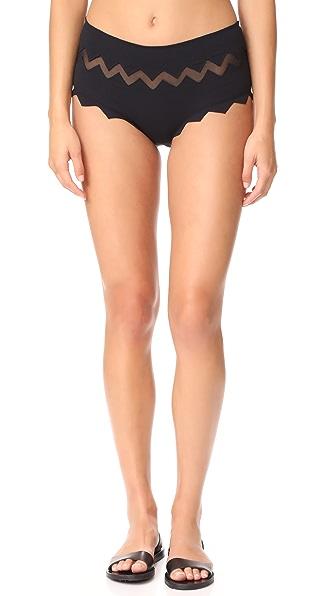 Marysia Swim Aloha Mesh Bikini Bottoms - Black