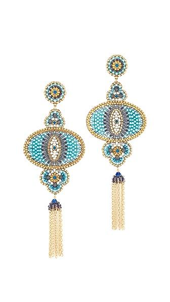 Miguel Ases Lola Earrings - Blue Multi