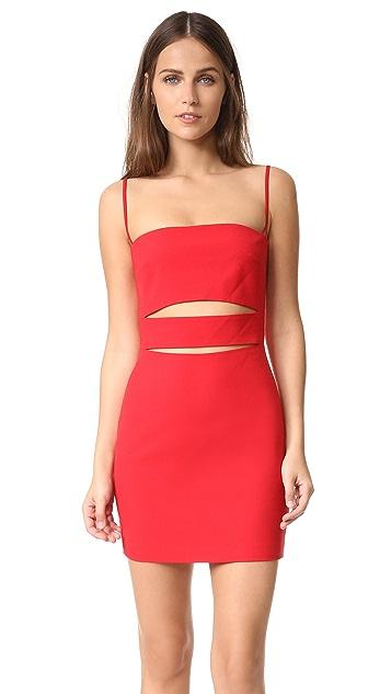Michelle Mason Bandeau Strap Dress