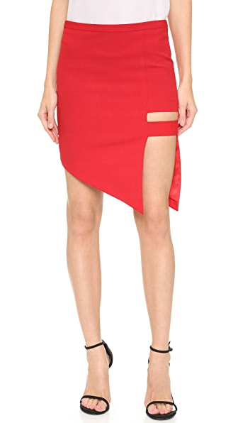 Michelle Mason Cage Skirt - Red