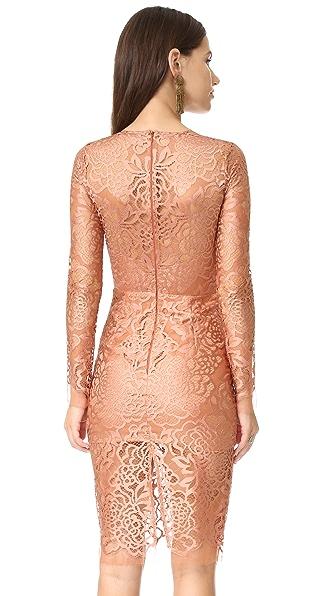 d900c4a4bda Michelle Mason Long Sleeve Lace Dress
