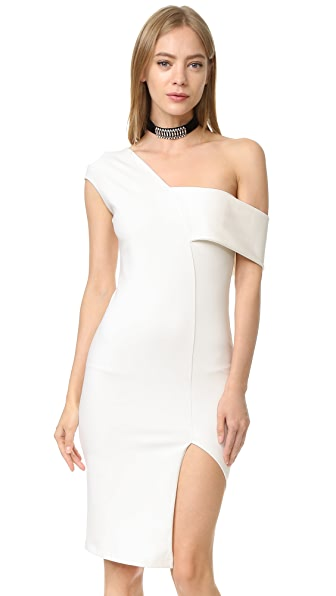 Michelle Mason Asymmetrical Wrap Dress - Ivory