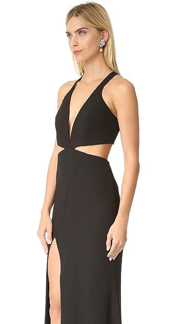 Michelle Mason Cutout Plunge Gown